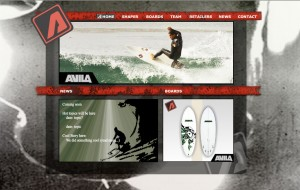 Avila Surfboards Website - Flash